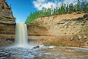 Little Buffalo River Falls on the Ft. Smith Highway<br /> Little Buffalo River Falls Territorial Park<br /> Northwest Territories<br /> Canada