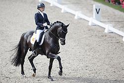 Bruntink Vai, (NED), All at Once<br /> Selectie 5 jarige WK paarden<br /> Dutch Championship Dressage - Ermelo 2015<br /> © Hippo Foto - Dirk Caremans<br /> 18/07/15