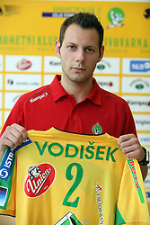 Boris Vodisek at press conference of handball club RK Celje Pivovarna Lasko before new season 2008/2009, on September 2, 2008 in Celje, Slovenia. (Photo by Vid Ponikvar / Sportal Images)