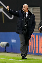November 15, 2018 - Leipzig, Germany - Russia head coach Stanislav Cherchesov gestures during the international friendly match between Germany and Russia on November 15, 2018 at Red Bull Arena in Leipzig, Germany. (Credit Image: © Mike Kireev/NurPhoto via ZUMA Press)