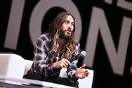 CANNES, FRANCE - JUNE 18:  Jared Leto attends A Conversation With Benjamin Palmer during Cannes Lions Festival at the Palais des Festivals on June 18, 2014 in Cannes, France.  (Photo by Tony Barson/Getty Images for Clear Channel)