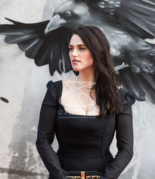 London, May 10th 2017. Katie McGrath attends the European premiere of King Arthur - Legend of the Sword at the Cineworld Empire in Leicester Square.