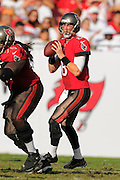 Tampa Bay Buccaneers quarterback Mike Glennon (8) during the Bucs 41-28 win over the Atlanta Falcons at Raymond James Stadium on Nov. 17, 2013 in Tampa, Florida. <br /> <br /> &copy; 2013 Scott A. Miller