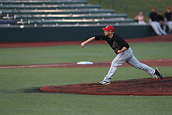 14 August 2015: Jacob Westerhouse during a Frontier League Baseball game between the Washington Wild Things and the Normal CornBelters at Corn Crib Stadium on the campus of Heartland Community College in Normal Illinois