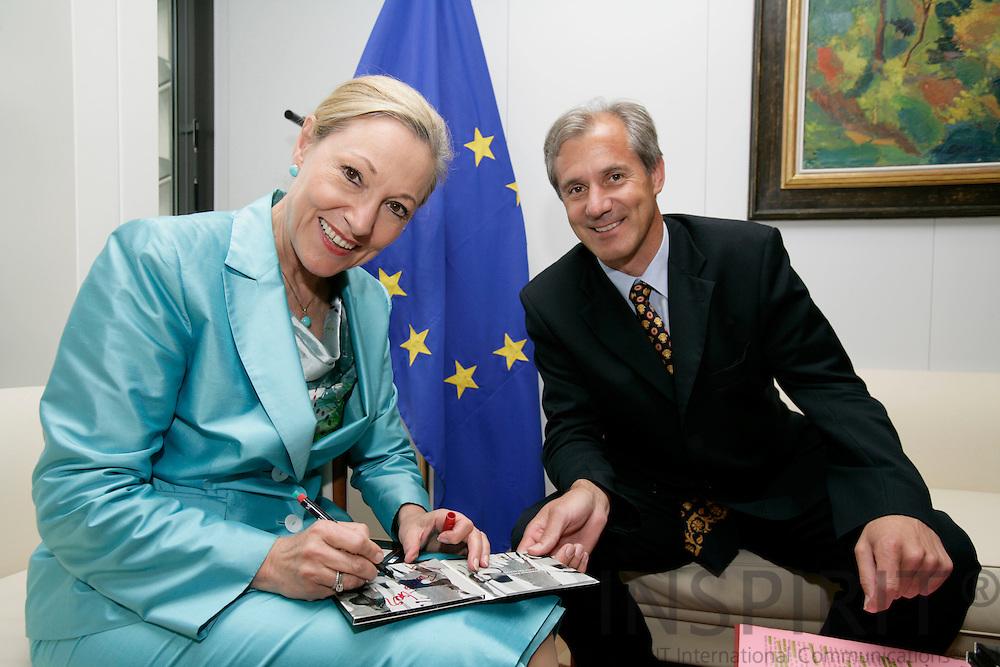 BRUSSELS - BELGIUM - 06 JUNE 2007 -- Minister Josef MARTINZ, Austrian Region of Carinthia meeting with EU Commissioner Benita Ferrero WALDNER. Photo: Erik Luntang