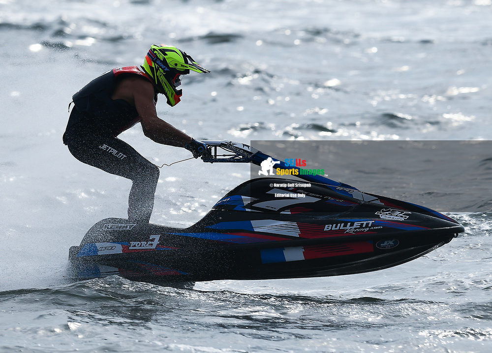 PATTAYA, THAILAND - DECEMBER 09: Morgan Poret (7) of France and Poret7 in action during the Pro Ski Grandprix Moto4 at the Thai Airways International Jet Ski World Cup 2018, Jomtien Beach, Pattaya, Thailand on December 09, 2018. <br /> .<br /> .<br /> .<br /> (Photo by: Naratip Golf Srisupab/SEALs Sports Images)<br /> .<br /> Any image use must include a mandatory credit line adjacent to the content which should read: Naratip Golf Srisupab/SEALs Sports Images