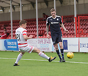 Dundee&rsquo;s Kevin Holt and Hamilton&rsquo;s Greg Docherty - Hamilton v Dundee, Ladbrokes Scottish Premiership at New Douglas Park<br />  <br />  - &copy; David Young - www.davidyoungphoto.co.uk - email: davidyoungphoto@gmail.com