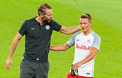 19.07.2017, Red Bull Arena, Salzburg, AUT, UEFA CL, FC Salzburg vs Hibernians FC, Qualifikation, 2. Runde, Rückspiel, im Bild Trainer Marco Rose (FC Red Bull Salzburg), Hannes Wolf (FC Red Bull Salzburg) // during the UEFA Championsleague Qualifier 2nd round, 2nd leg match between FC Salzburg and Hibernians FC at the Red Bull Arena in Salzburg, Austria on 2017/07/19. EXPA Pictures © 2017, PhotoCredit: EXPA/ JFK