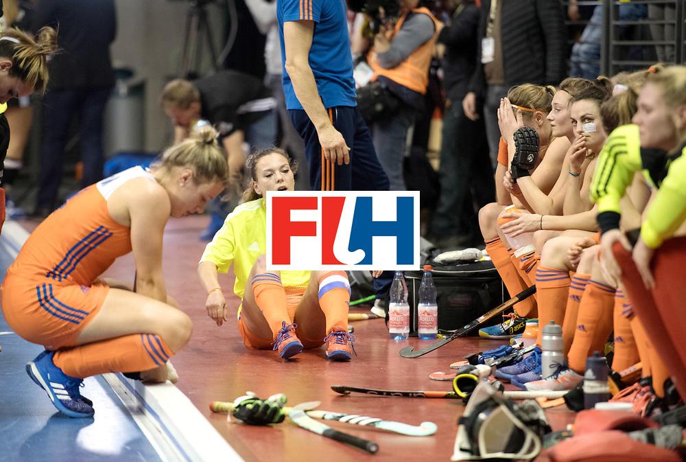 BERLIN - Indoor Hockey World Cup<br /> Final: Netherlands - Germany<br /> foto: Mila Muyselaar <br /> WORLDSPORTPICS COPYRIGHT FRANK UIJLENBROEK
