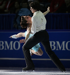 London, Ontario ---10-01-17--- Vanessa Crone and Paul Poirier skate their gala performance at the 2010 BMO Canadian Figure Skating Championships in London, Ontario, January 18, 2010. .GEOFF ROBINS/Mundo Sport Images.