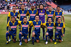 August 4, 2010; San Francisco, CA, USA;  Club America starting line up before the game against Real Madrid at Candlestick Park.