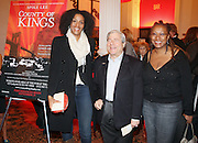 l to r: Sarah Jones, Brooklyn Borough President Marty Markowitz and Lisa Cortez at The Opening for Spike Lee's theater production of  ' County of Kings' held at The Publc Theater on October  12, 2009