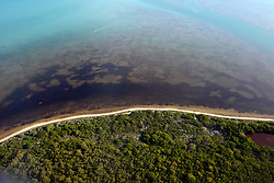 Aerial view of shoreline along Marquesas Keys, Florida, United States of America