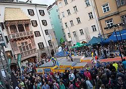 30.05.2015, Altstadt, Innsbruck, AUT, Golden Roof Challenge, Stabhochsprung, im Bild Übersicht // overview during pole vault at Golden Roof Challenge in Innsbruck, Austria on 2015/05/30. EXPA Pictures © 2015, PhotoCredit: EXPA/ Jakob Gruber