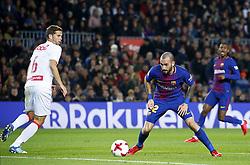 November 29, 2017 - Barcelona, Catalonia, Spain - Aleix Vidal during the Copa del Rey match between FC Barcelona v Real Murcia CF,i n Barcelona, on November 29, 2017. (Credit Image: © Joan Valls/NurPhoto via ZUMA Press)