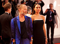 Dajana Roncione and Thom Yorke at the premiere gala screening of the film Suspiria at the 75th Venice Film Festival, Sala Grande on Saturday 1st September 2018, Venice Lido, Italy.