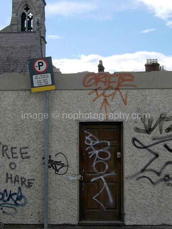 Grafitti on wall in Dublin Ireland