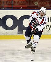 Ishockey<br /> GET-Ligaen<br /> 09.10.08<br /> Jordal Amfi<br /> Vålerenga VIF - Lørenskog<br /> Tom André Jacobsen<br /> Foto - Kasper Wikestad