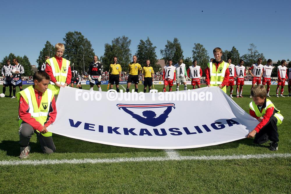 21.07.2007, Pietarsaari, Finland..Veikkausliiga 2007 - Finnish League 2007.FF Jaro - Vaasan Palloseura.Veikkausliigan lippu.©Juha Tamminen.....ARK:k