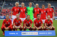 International Women's Friendly Matchs 2019 / <br /> SheBelieves Cup Tournament 2019 - <br /> Japan vs England 0-3 ( Raymond James Stadium - Tampa-FL,Usa ) - <br /> Team of England ,Pose prior the match Against Japan ,From the left up :Steph Houghton ,Leah Williamson ,Carly Telford ,Alex Greenwood ,Karen Carney ,Keira Walsh //<br /> Lucy Bronze ,Bethany Mead ,Lucy Staniforth ,Jodie Taylor ,Isobel Christiansen