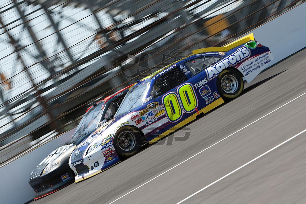 Speedway, IN  - JUL 31, 2011:  David Reutimann (00) races to turn one for the Brickyard 400 presented by BigMachineRecords.com at Indianapolis Motor Speedway in Speedway, IN.