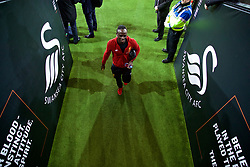 SWANSEA, WALES - Monday, January 22, 2018: Liverpool's Sadio Mane arrives before the FA Premier League match between Swansea City FC and Liverpool FC at the Liberty Stadium. (Pic by David Rawcliffe/Propaganda)
