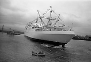 2/7/1964<br /> 7/2/1964<br /> 2 July 1964<br /> <br /> The N.S. Savannah arriving at Alexandria Basin, Dublin for its first stop in Europe