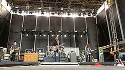 June 20, 2018 - Oshkosh, Wisconsin, U.S - BILL SATCHER, MICHAEL HOBBY, GRAHAM DELOACH and ZACH BROWN of A Thousand Horses during Country USA Music Festival at Ford Festival Park in Oshkosh, Wisconsin (Credit Image: © Daniel DeSlover via ZUMA Wire)