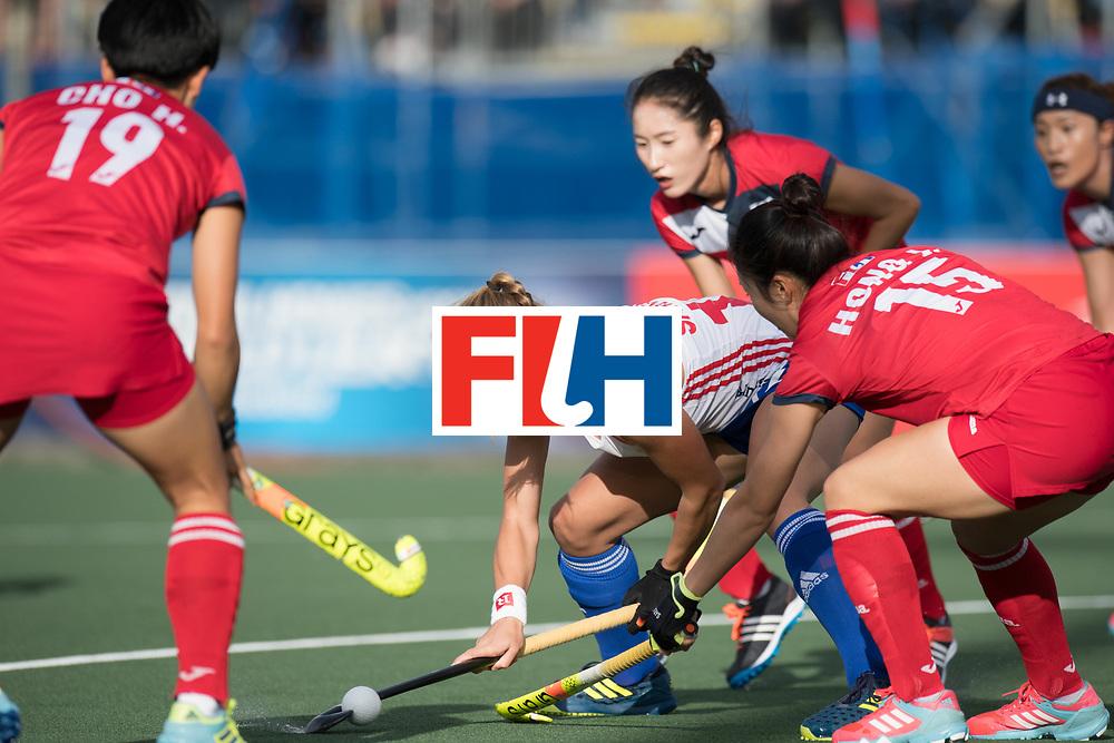 AUCKLAND - Sentinel Hockey World League final women<br /> Match id 10321<br /> Korea v England Bronze 1-0<br /> Korean win Bronz<br /> Foto:  <br /> WORLDSPORTPICS COPYRIGHT FRANK UIJLENBROEK