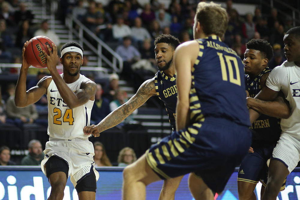 December 22, 2017 - Johnson City, Tennessee - Freedom Hall: ETSU guard Jermaine Long (24)<br /> <br /> Image Credit: Dakota Hamilton/ETSU