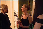 AMANDA ELIASCH; MAUREEN FOOTER, Nicky Haslam hosts a party to launch a book by  Maureen Footer 'George Stacey and the Creation of American Chic' . With a foreword by Mario Buatta. Kensington. London. 11 June 2014