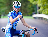 Paige Shumskas works out on her bicycle while preparing for the Bucks County Classic Tuesday August 30, 2016 in Pipersville, Pennsylvania.  (Photo by William Thomas Cain)