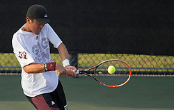UTRGV vs. Texas A&M in a NCAA men's tennis match Feb. 12th, 2017, in College Station, Texas.