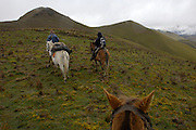 Yanahurco - Thursday, Dec 27 2007: Horse riding is the most effective way of travelling long distances at Yanahurco. Hacienda Yanahurco is situated in the Cordillera Real de Los Andes on the South-eastern flank of Cotopaxi Volcano.  (Photo by Peter Horrell / http://www.peterhorrell.com)