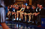 The Tall Blacks bench during the Men's basketball match between the New Zealand Tall Blacks and France at the Olympics in Sydney, Australia on 17 September, 2000. Photo: PHOTOSPORT<br /><br /><br /><br /><br />170900 *** Local Caption ***