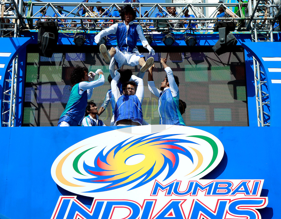 Performers during match 28 of the the Indian Premier League ( IPL) 2012  between The Mumbai Indians and the Kings X1 Punjab held at the Wankhede Stadium in Mumbai on the 22nd April 2012..Photo by Sandeep Shetty/IPL/SPORTZPICS.