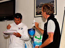 The draw for the boats in Skippers Briefing. French Match Race. Photo:Chris Davies.