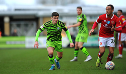Jack Aitchison of Forest Green Rovers competes with Shay Facey of Walsall- Mandatory by-line: Nizaam Jones/JMP - 08/02/2020 - FOOTBALL - New Lawn Stadium - Nailsworth, England - Forest Green Rovers v Walsall - Sky Bet League Two