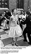 Vanessa Catchpole dancing during the Magdalene College May Ball, Cambridge. 17 June 1987. film 87490f4<br />