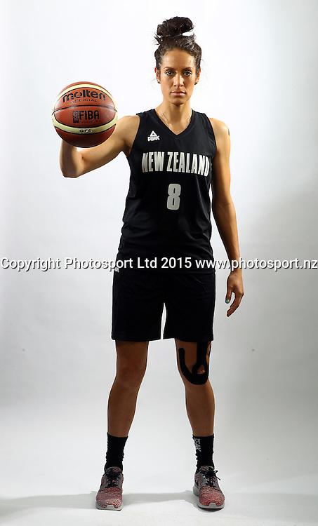 Natalie Taylor, Tall Ferns photoshoot, New Zealand international basketball team portraits. Bruce Pullman Lodge, Auckland. 23 July 2015. Photo: William Booth / www.photosport.nz