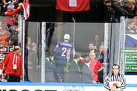 Expulsion Antoine Roussel - 03.05.2015 - France / Suisse - Championnat du Monde de Hockey sur Glace -Prague <br />Photo : Xavier Laine / Icon Sport