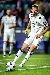 August 16, 2018 - Tallinn, Estonia - Borja Mayoral of FC Real Madrid in action at UEFA Super Cup 2018 in Tallinn..The UEFA Super Cup 2018 was played between Real Madrid and Atletico Madrid. Atletico Madrid won the match 4-2 during extra time after and took the trophy after drawing at 2-2 during the first 90 minute of game play. (Credit Image: © Hendrik Osula/SOPA Images via ZUMA Wire)