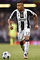 Alex Sandro of Juventus during the UEFA Champions League Final match between Real Madrid and Juventus at the National Stadium of Wales, Cardiff, Wales on 3 June 2017. Photo by Giuseppe Maffia.<br /> <br /> Giuseppe Maffia/UK Sports Pics Ltd/Alterphotos