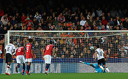 November 5, 2019, Valencia, Valencia, Spain: Daniel Parejo of Valencia scores by penalty during the during the UEFA Champions League group H match between Valencia CF and Losc Lille at Estadio de Mestalla on November 5, 2019 in Valencia, Spain (Credit Image: © AFP7 via ZUMA Wire)