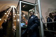 A station attendant works at the Kievskaya metro station on the Moscow Ring Line. .The Moscow Metro, which spans almost the entire Russian capital, is the world's second most heavily used metro system after the Tokyo's twin subway. Opened in 1935, it is well known for the ornate design of many of its stations, which contain outstanding examples of socialist realist art.