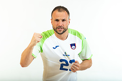 Uros Zorman, former handball player of Slovenia posing for commercial of Rokometna simfonija 2019, on April 14, 2019, in Zrece, Slovenia. Photo by Vid Ponikvar / Sportida