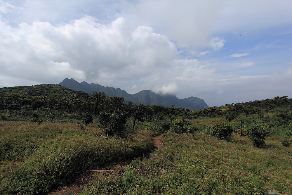 A view of the Knuckles Range, in central Sri Lanka, after a big storm has moved away.