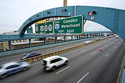 Traffic crosses the Benjamin Franklin Bridge between Philadelphia, PA and Camden, NJ. (Bas Slabbers/for NewsWorks)