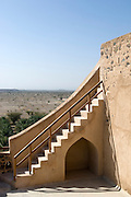 Jabrin Fort was built by Imam Sultan bin Saif Al Ya'arubi in 1670 as a defensive stronghold and as living accommodation for the Imam. It has rooms and ceilings decorated with fine carvings. It has two huge towers with walls two metres thick.