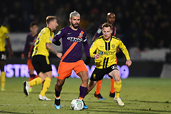 January 23, 2019 - Burton-Upon-Trent, Staffordshire, United Kingdom - Manchester City striker Sergio Aguero (10) during the Carabao Cup match between Burton Albion and Manchester City at the Pirelli Stadium, Burton upon Trent on Wednesday 23rd January 2019. (Credit: MI News & Sport) (Credit Image: © Mark Fletcher/NurPhoto via ZUMA Press)